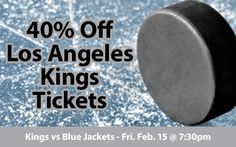 $43 (40% off) Los Angeles Kings Tickets vs Columbus Blue Jackets Fri. Feb. 15 @ 7:30pm - Crowd Seats Cheap Sports Tickets