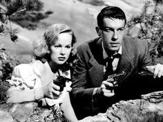 """d One of the GREATEST film noir ! The slender, blond Ms. Cummins had mostly played innocents until being cast in her best-known role, as a bloodthirsty sharpshooter in """"Gun Crazy. Cummins, British Actresses, Actors & Actresses, I Movie, Movie Stars, Movie Photo, Women Shooting Guns, Deadly Females, Bogart And Bacall"""