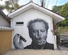 Jack big and loud... love it Skullybloodrider. #streetart