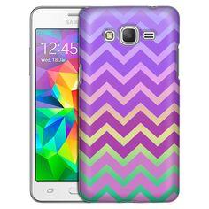 Samsung Grand Prime Rainbow on Chevron Pink Purple Case
