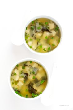 Miso Soup Recipe -- this traditional Japanese soup is quick and delicious to make at home with this easy recipe!   gimmesomeoven.com
