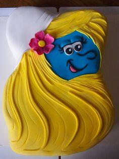 Smurfette cake Cupcake Cakes, Cupcakes, Smurfette, Disney Cakes, Cool Kids, Smurfs, Cake Decorating, Aurora Sleeping Beauty, Birthdays
