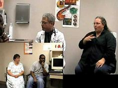 Part 2 - A Deaf couple visits the doctor. This portion of the video focuses on the doctor's diagnosis and recommendations. Video from YouTube.