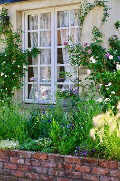 Organic Gardening At Home Colorful Garden, Green Garden, Amazing Gardens, Beautiful Gardens, Garden Signs, Garden Stakes, Green Landscape, Wooden Garden, Garden Boxes