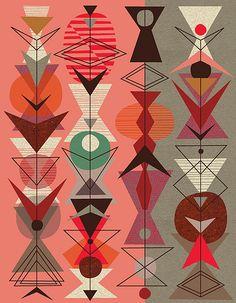 jenn ski triangle art ♦๏~✿✿✿~☼๏♥๏花✨✿写☆☀🌸🌿🎄🎄🎄❁~⊱✿ღ~❥༺♡༻🌺<TU Feb ♥⛩⚘☮️ ❋ Pattern Dots, Doodle Pattern, Pattern Texture, Surface Pattern Design, Geometric Patterns, Geometric Art, Textile Patterns, Print Patterns, Mid Century Modern Art