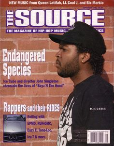 The Source (September 1991) featuring Ice Cube. #hiphop #magazines #covers
