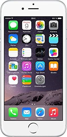 Apple iPhone 6 Smartphone (4,7 Zoll (11,9 cm) Touch-Display, 16 GB Speicher, iOS 8) silber: Apple: Amazon.de: Elektronik, 538,00 Euro