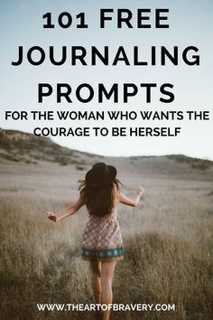 Journaling is great for personal development, self-confidence, and changing your life, but sometimes it's hard to get started! Here's a list of 101+ free journaling prompts to help you ditch self-doubt, shift your perspectives, and become brave. #journaling #selflove #selfcare #personaldevelopment #lifehacks #personalgrowth #brave #fearless #selfconfidence #confidence #loveyourlife #love_yourself #changeyourlife #loveyourself #loveyourimperfections #happiness #behappy #beyourself #beyou