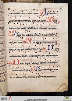 Antiphonarium Cisterciense Salem, um 1200 Cod. Sal. X,6b  Folio 46r