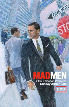 Mad Men has a new hire: 75-year-old ad man straight from the swinging 60s  New series of hit show has called on British artist Brian Sanders to draw ad campaign heralding return of Don Draper and co. This illustration is so unique for this time. Love the composition and texture!