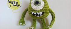 mike wazowski amigurumi crochet free pattern patrón gratis