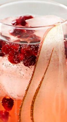 Pear Pomegranate Bellini