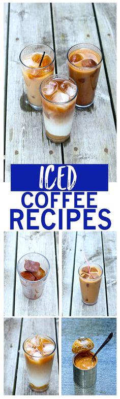 Iced Coffee Recipes: Caramel, Vanilla and Mocha #Coffeedrinks