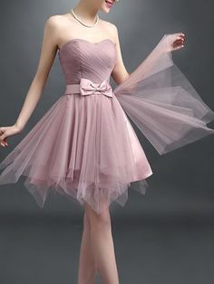 Shop Cameo Brown Sheer Strapless Bowknot Waist Lacing Back Prom Dress from choies.com .Free shipping Worldwide.$51.29
