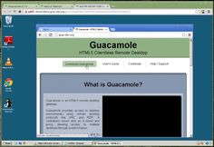 Guacamole 0.7.0 Demo. This is a demonstration of Guacamole version 0.7.0, which introduced sound support and a cleaner interface.