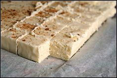 Egg Nog Fudge - holy crap, totally making this next year...with the full fat eggnog.