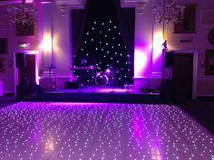 Vivid purple lighting with a fabulous LED Dancefloor