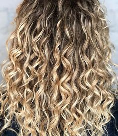Balayage naturally curly hair
