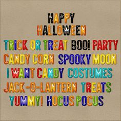 Tricks & Treats Words One by HarperFinchDesigns on Etsy, $3.99