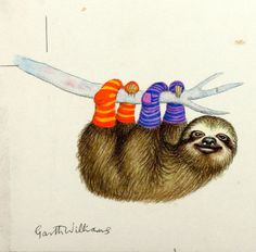 Sloth with Socks! (by Garth Williams)