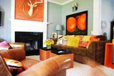 Eclectic and Colorful Space by Judith Balis, http://www.nestinstinct.com