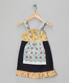 Yellow Bonnet Apron Dress - Infant, Toddler & Girls