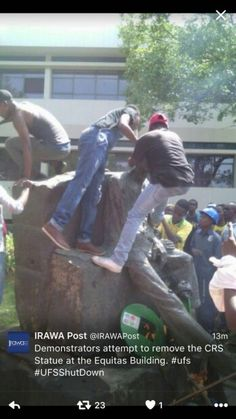 Update: Shocking pictures of Kovsie campus today Black on White Genocide in South Africa News South Africa, My People, Funny Quotes, How To Remove, African, Culture, Statue, Monuments, Sad