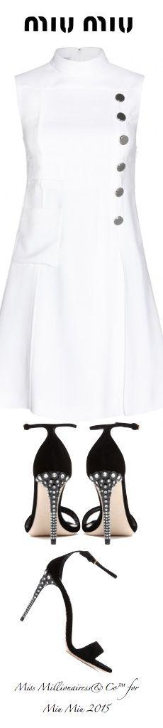 MIU MIU 2015 - Crepe Dress and MIU MIU Suede Sandals with Embellished Crystal Heels - Miss Millionairess's Boutique™