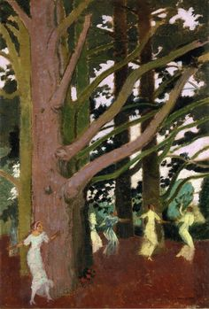 Maurice Denis - Dancing around the Large Trees at Perros, 1914