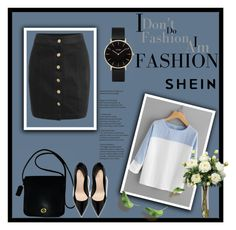 """""""Shein"""" by juice-luna ❤ liked on Polyvore featuring CLUSE, Coach and Nearly Natural"""