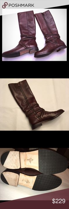 Cole Haan Braelyn Boots-Chestnut, Size 7.5 Cole Haan Braelyn Boots-Chestnut, Size 7.5  These boots are stunning! Great condition except for a few scratches on one boot near the top (see last pic). These would be perfect with a cute dress, leggings, or skinny jeans. ☺️ Measures about 17 inches tall from heel to boot opening; opening is 7 inches. Cole Haan Shoes