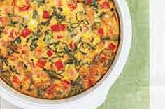 This is the BEST, easiest, most flavorful egg bake (oven frittata) you will ever make. No milk required. Bacon optional.