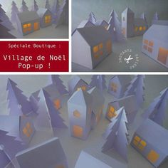 Village de Noël à télécharger - Christmas village to download