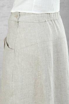 Long linen skirt natural linen colour linen summer skirts
