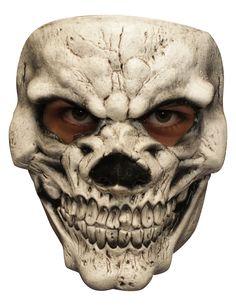 Maschera da teschio beffardo per adulto - Halloween: Questa maschera da scheletro inquietante è in lattice dipinto a mano, perfettamente rifinita.La bocca dello scheletro si apre in un sorriso nient'affatto rassicurante e lo sguardo è... #halloween #maschere #halloweenmaschere