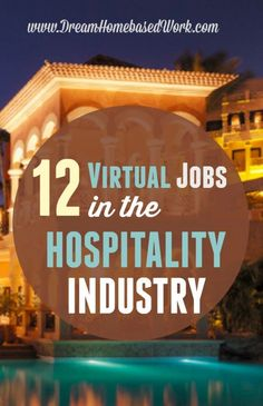 12 Virtual Jobs in the Hospitality Field WAHM Ideas #WAHM #workathome #workathomemom