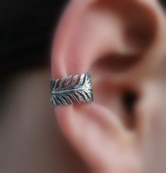 Sterling Silver Handcrafted Feather Textured by Holylandstreasures, $14.95