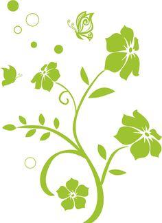 ActeDeco Nopeakasvuinen kukka - Sisustustarrat Plant Leaves, Plants, Wall Decals, Color, Plant, Planets