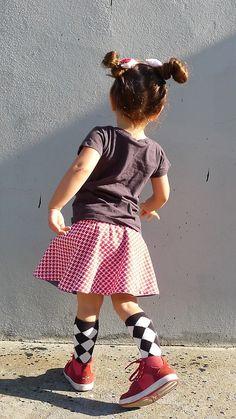 Argyle socks and pigtails. #designer #kids #fashion
