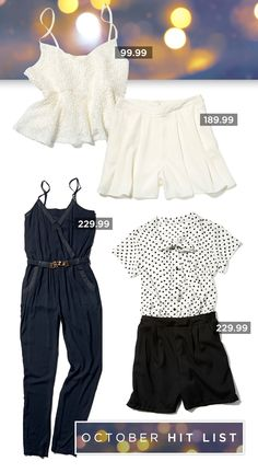 Be elegant and stylish this summer in these gorgeous black, white and cream must-haves.