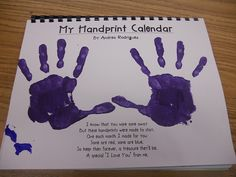 This calendar is precious, each month is a different decorated handprint. I don't have time for it but maybe one day!