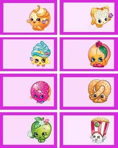 Printable Shopkins food labels | Mandy's Party Printables