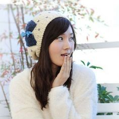 New Arrival Lovely Bowknot Knitted Warm Hat