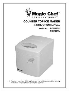 Magic Chef Countertop Ice Maker Directions : Pinterest ? The world?s catalog of ideas