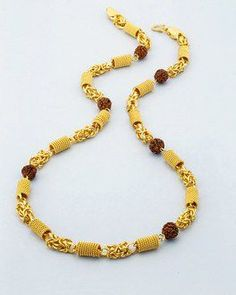 Mens Designer Jewelry, Mens Jewellery, Jewelry Design, Beaded Jewelry, Beaded Necklace, Beaded Bracelets, Chain Jewelry, Gold Chain Indian, Gold Fashion