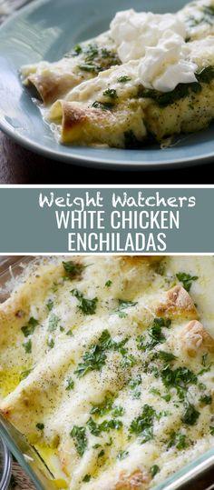 Weight Watchers White Chicken Enchiladas Recipe Diaries #weightwatchers #enchiladas #mexicanfood #chickendinner