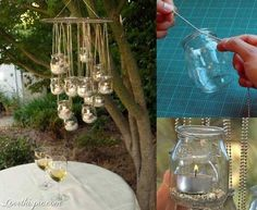 DIY Outdoor Candle Holder diy crafts craft ideas easy crafts diy ideas diy idea diy home easy diy diy candles for the home crafty decor home ideas diy decorations