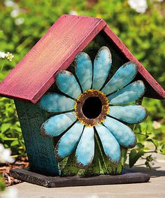 Blue Flower Birdhouse