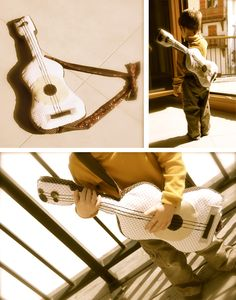 lots of photos of stuffed guitars! so cute in many variations #guitar #toy #stuffed