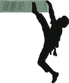 Rock Climber Silhouette embroidery file by FRenee2 on Etsy, $3.00